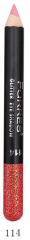 "MB014-114 Карандаш-глиттер для глаз и губ ""Glitter Eye Shadow"" (красный с золотом)"