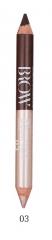 MB015-03 Карандаш-скульптор двухсторонний для бровей